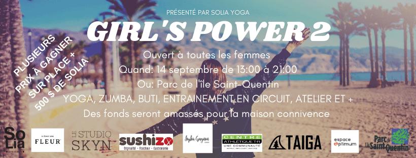 14 SEPTEMBRE – ÉVÉNEMENT GIRL'S POWER 2